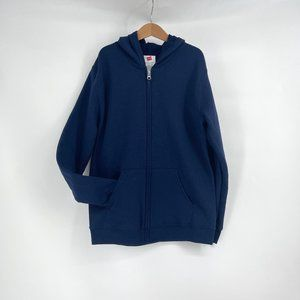 Boys navy hooded top size youth large